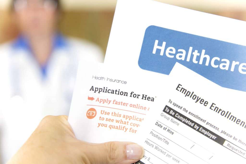 Open enrollment healthcare forms